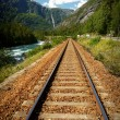 Railway in the mountains - Stock Photo