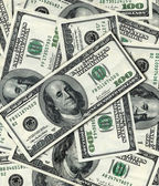 100 banknotes background — Stock Photo