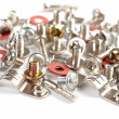 Screws, bolts and nuts on a white backgr — Stock Photo #2084058