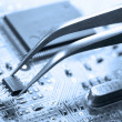 Stock Photo: Assembling circuit board
