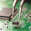 Assembling a circuit board — Stock Photo #2084578