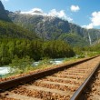 Railway in the mountains — Stock Photo #2189604