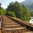 Stock Photo: Railway in the mountains