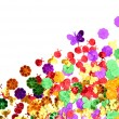 Stock Photo: Spring confetti background