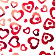 Stock Photo: Red hearts background