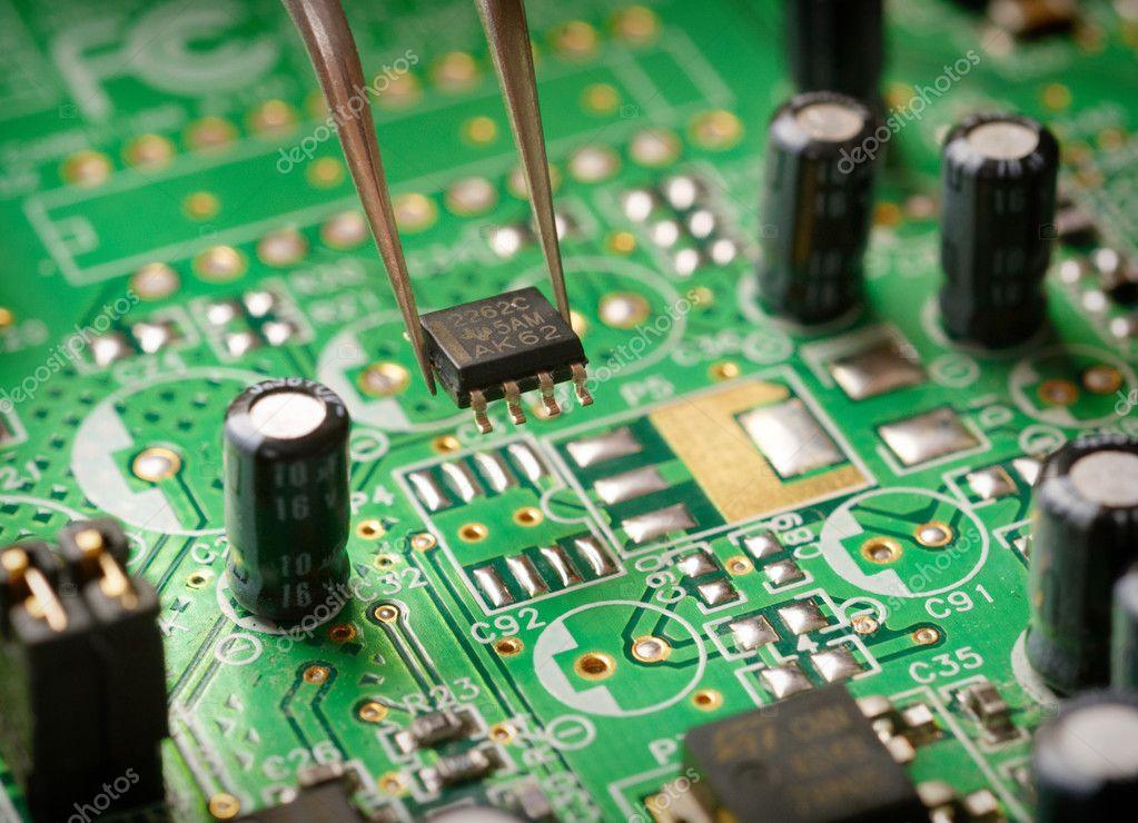 Assembling a circuit board — Stock Photo #2501364
