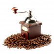 Coffee grinder on white background — Stock Photo