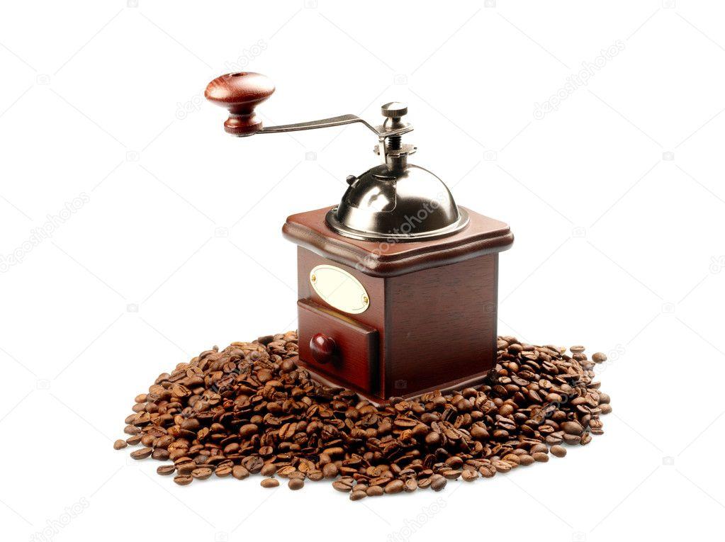Coffee grinder on white background  Stock Photo #2663094