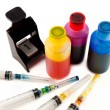 Ink for inkjet printer - Stock Photo