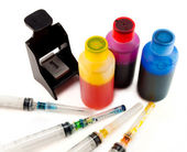 Ink for inkjet printer — Stock Photo