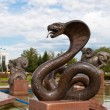 Sculpture snake — Stock Photo