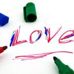 "Word ""love"" written marker — Stock Photo"