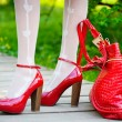 Sexy red shoes - Stock Photo