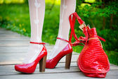 Sexy red shoes — Stockfoto