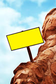Blank Directional Sign Post — Stock Photo