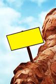 Blank Directional Sign Post — Stockfoto