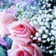 Bunch of pink roses — Stock Photo #1939215