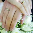 Mand womwedding hands — Stock Photo #1939454