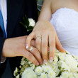 Mand womwedding hands — Stock Photo #1939989