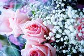 Bouquet de roses roses — Photo