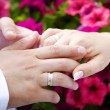Mand womwedding hands — Stock Photo #1940016