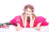Portrait of blond small girl — Stock Photo