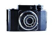 Old SLR camera isolated on white — Stock Photo