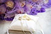 Złote obrączki ślubne — Zdjęcie stockowe