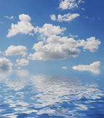 Background abstract blue sky and clouds — 图库照片