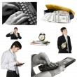 Stock Photo: Conceptual image-grid of business photos