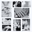 Collage of wedding photos — Stock Photo #2118197