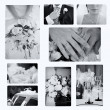 Collage of wedding photos — Stock Photo