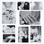 Collage of wedding photos — Stock Photo