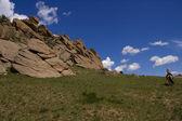 Mongolská jízda — Stock fotografie