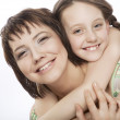 Stock Photo: Mother and her little daughter