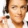 Friendly secretary/telephone operator — Stock Photo #1806535
