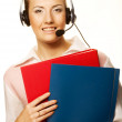 Friendly secretary/telephone operator — Stock Photo #1806567