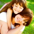 Stockfoto: Mother and daughter in park
