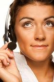 Friendly secretary/telephone operator — Photo