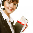 Young happy smiling businesswoman - Stock Photo