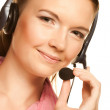 Royalty-Free Stock Photo: Friendly secretary/telephone operator
