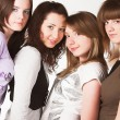 Portrait of four  teenage girls - Foto de Stock