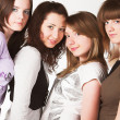Portrait of four  teenage girls - Stock Photo
