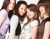 Portrait of four teenage girls — Stock Photo