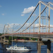 Bridge on River and ship — Stock Photo #2139908
