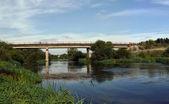 The bridge over the river — Stock Photo