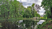 City park in cloudy weather — Stock Photo