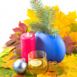 Autumn cognac for Christmas — Stock Photo
