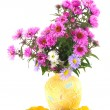 Autumn in yellow vase — Stock Photo