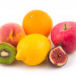 Stock Photo: Beautiful peach apple fig